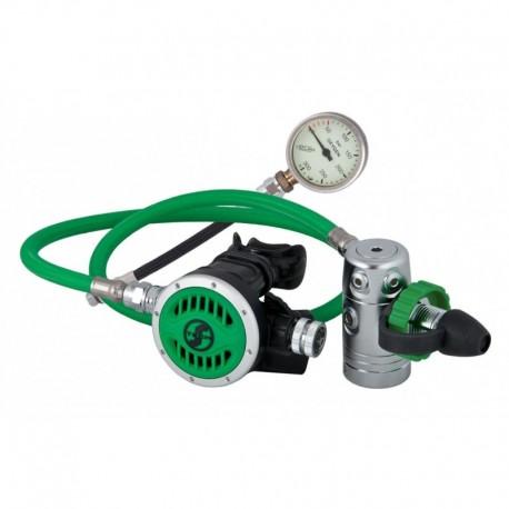 Automat R 2 TEC zestaw stage do 100% O2 (automat+manometr) + zielona torba