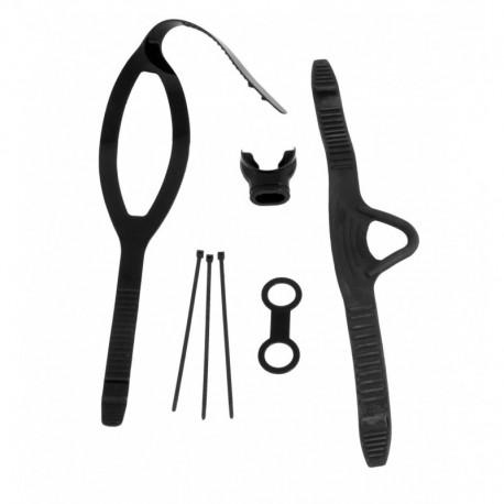 Zestaw akcesorii: ustnik, pasek do maski, pasek do płetw, mocowanie rurki