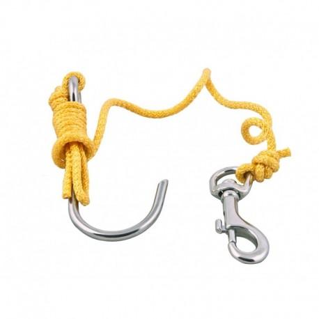 Linka z hakiem rafowym (reef hook)